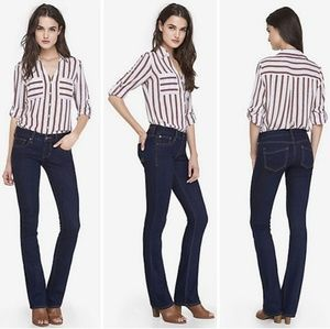 Express Barely Boot Stella Low-Rise Jeans